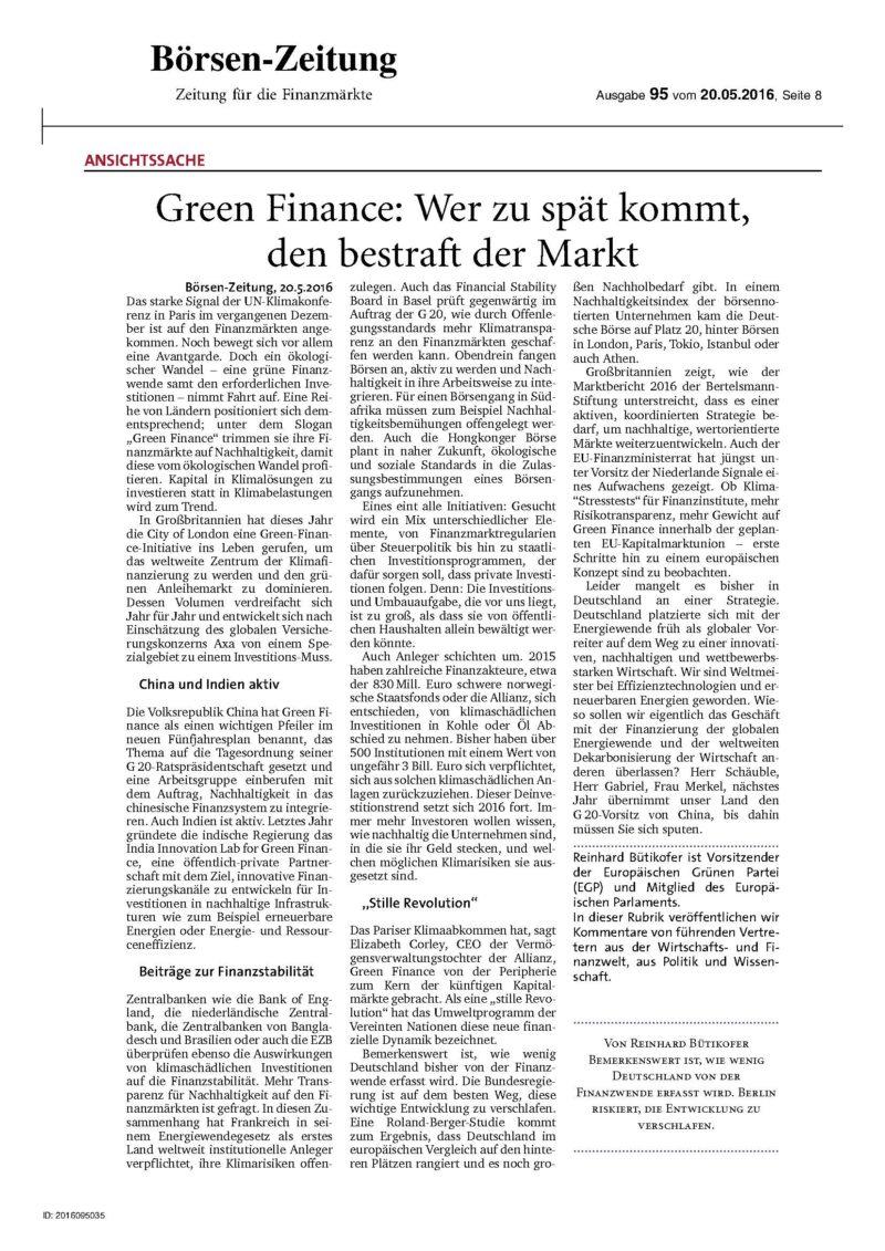 Op Ed Börsenzeitung
